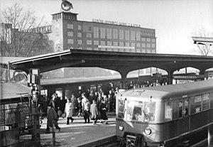 Berlin Treptower Park station - Station in 1958