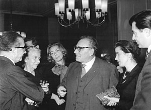 Dimitris Rontiris - Dimitris Rontiris (on the left, back to camera) during a visit to East Berlin. 8 October 1963.