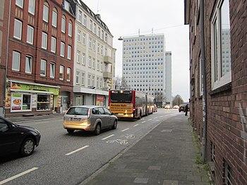 Elendsredder auf Höhe der Kreuzung Holtenauer Straße
