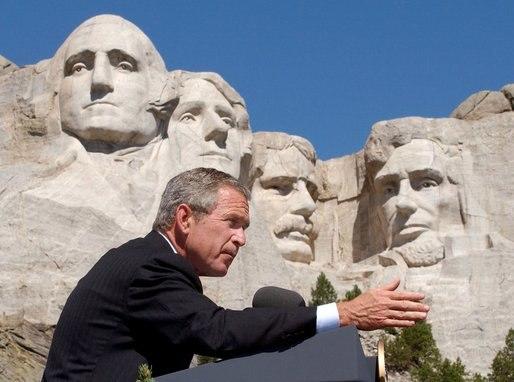 Bush at Mount Rushmore