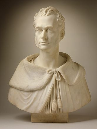 Thomas Crawford (sculptor) - Bust of Charles Brooks (1795-1872), pastor, 1843 Marble