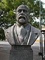 Bust of Döme Horváth by Sándor Boldogfai Farkas, Katona József Park, 2016 Hungary.jpg