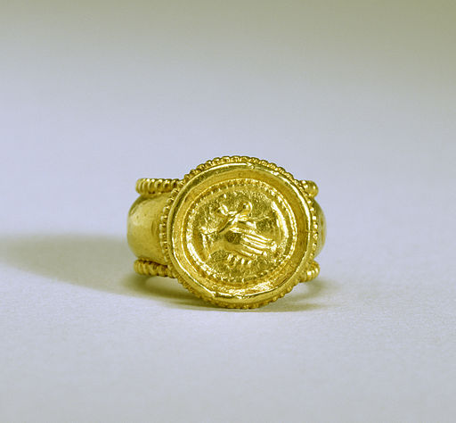 Byzantine - Marriage Ring - Walters 571715 - Top