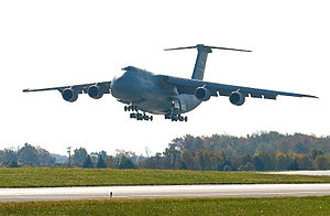 Dover Air Force Base - The Spirit of Old Glory, the fourth C-5M Super Galaxy delivered to the 436th Airlift Wing, arrives at Dover Air Force Base.