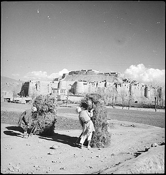 Ghazni - View of Ghazni Citadel, 1939