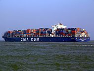 CMA CGM La Traviata p2, leaving Port of Rotterdam, Holland 01-Apr-2007.jpg