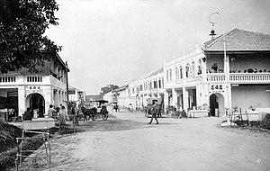 Pematangsiantar - Street scenery at Pematangsiantar in 1910s