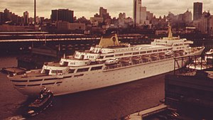 SS Oceanic (1965) - Oceanic in New York City.