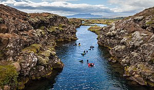 Þingvellir - Snorkeling in the Silfra canyon.