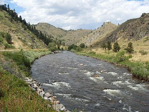 Cache la Poudre River in Poudre Canyon