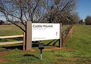 Caddo Mounds State Historic Site - Entrance to Caddo Mound State Historic Site