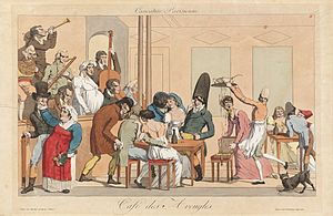 Cabaret - The Café des Aveugles in the cellars of the Palais-Royal (beginning of the 19th century)