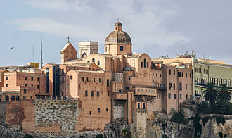 Cagliari Cathedral - Eastern View of the Cathedral and Castello
