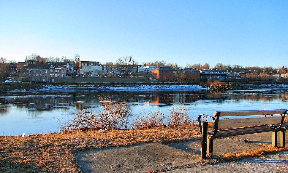 Skyline of Calais, Maine