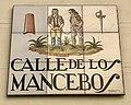 Calle de los Mancebos - Street name plate in Madrid.jpg