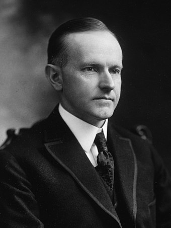 Calvin Coolidge, 30th President of the United States (1923-1929) Calvin Coolidge cph.3g10777 (cropped).jpg