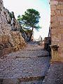 Camí que puja cap a la part superior del castell major, Xàtiva.JPG