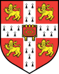 University of Cambridge coat of arms.