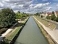 Canal Ourcq vu depuis Pont Boulevard Westinghouse - Sevran - 2020-08-22 - 1.jpg
