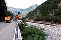Canal del Ferro Pietratagliata Fella Strada Statale works in the riverbed 22082007 01.jpg