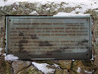 Raid on York (1692) - Memorial plaque in York, ME