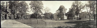 Princeton University - Cannon Green ca. 1909, with East Pyne, Whig and Clio Halls