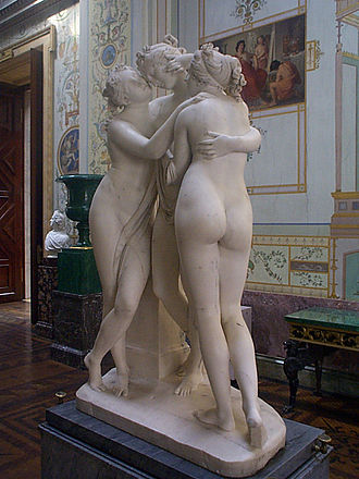 The Three Graces (sculpture) - The Three Graces, alternate view, Hermitage Museum