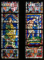 Canterbury, Canterbury cathedral-stained glass 03 Seth and Adam.JPG