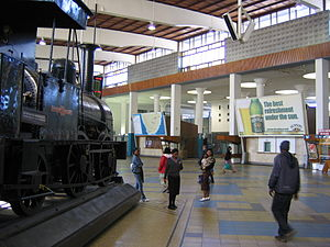 Interior of the Cape Town main train station, ...