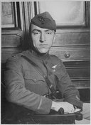 "Captain Edward Rickenbacker, America's premier ""Ace"" officially credited with 22 enemy planes and the proud wearer of th - NARA - 533720.tif"