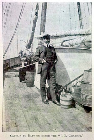 "Raymond Rallier du Baty - Captain du Baty on board the ""J. B. Charcot"" - From his book 15,000 Miles in a Ketch."