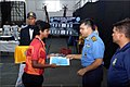 Captain Sumantra Hazarika, Training Captain (Design), INA awarding the INA Open Badminton Championship for Autumn Term 2017 Gold medal to Cadet Shubhangi Swaroop of Braveheart Squadron.jpg