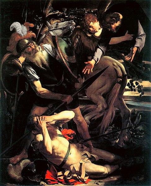 Caravaggio, Conversione di San Paolo dans immagini sacre 487px-Caravaggio_-_Conversione_di_San_Paolo_%28Odescalchi%29