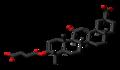 Carbenoxolone 3D skeletal.png