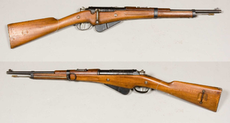 Berthier rifle - A Berthier M1916 Carbine on display at the Swedish Army Museum