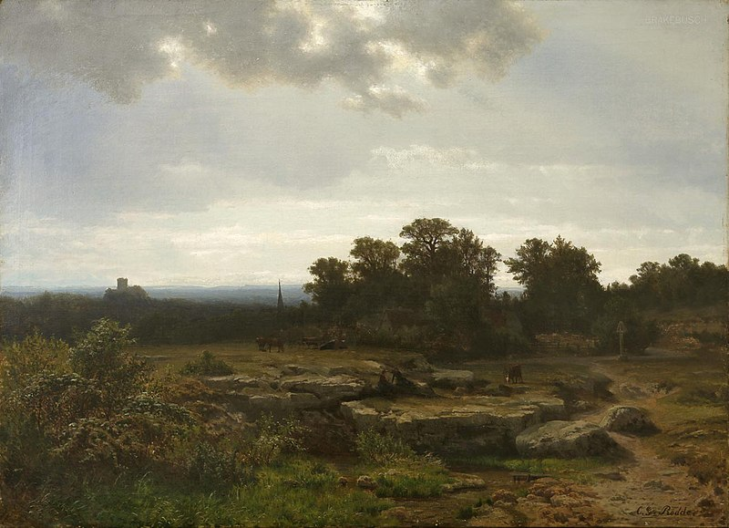 Datei:Carl Gustav Rodde – Landschaft mit verhangener Sonne.jpg