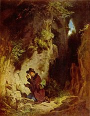 The geologist, 19th century painting by Carl Spitzweg.
