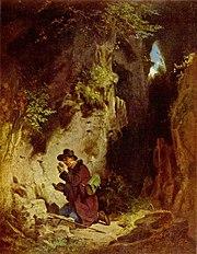 O Geólogo, Pintura do séc. XIX por Carl Spitzweg.