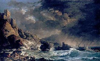 Carlo Bonavia - Image: Carlo Bonavia's oil painting 'Storm off Rocky Coast'