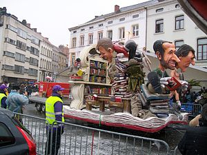 Carnival of Aalst - 2010 with the library as theme