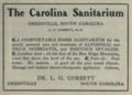 """Carolina Sanitarium (""""American medical directory"""", 1906 advert).png"""