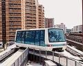 Carriage on the Bukit Panjang LRT line approaching the Choa Chu Kang station.jpg
