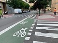 Carril bici Zaragoza la Vieja, cruce Cno Miraflores.jpg