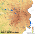 Carte physique du plateau de Millevaches.png