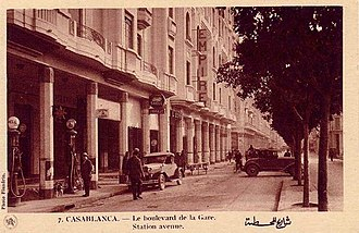 Casablanca - Casablanca in 1930—seen from Boulevard de la Gare, now Muhammad El-Khamis Street