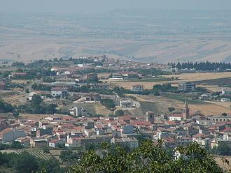 Casalvecchio di Puglia - View from Castelnuovo della Daunia