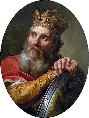 """Homagial Crown - Portrait of King Casimir III the Great wearing the """"Homagial Crown"""""""