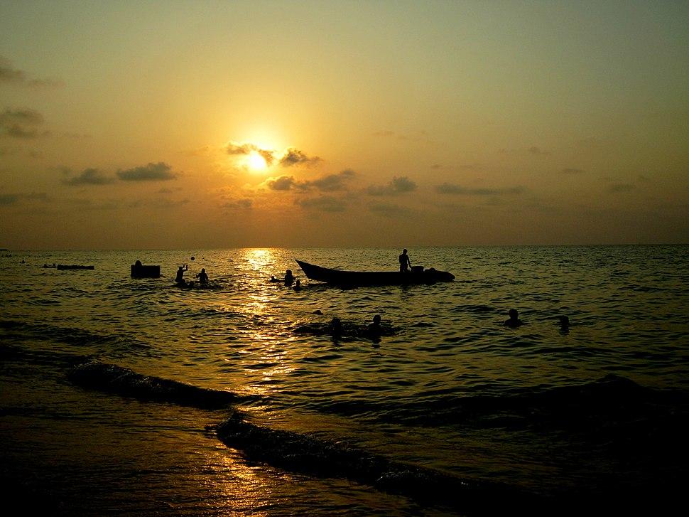 Caspian sea in sunset, Babolsar, Mazandaran, Iran taken by Arashk Rajabpour