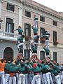 Castellers de Sabadell - Vano de 5 - Sabadell. Festa i Tradició 2011.JPG