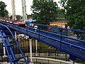 Cedar Point Corkscrew train returning to station (1653).jpg